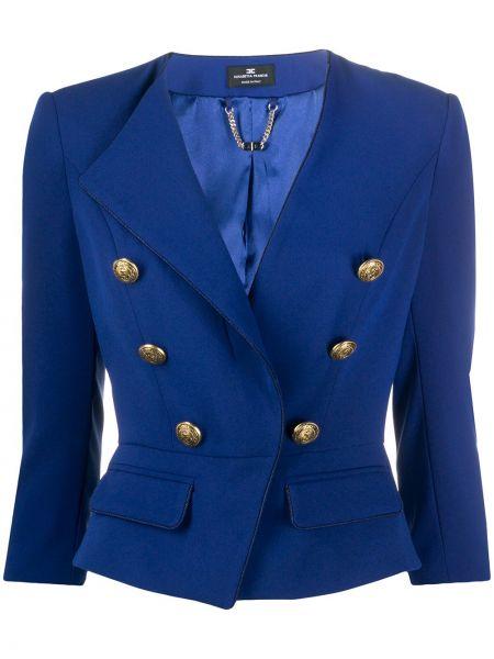 Пиджак с накладными карманами двубортный Elisabetta Franchi