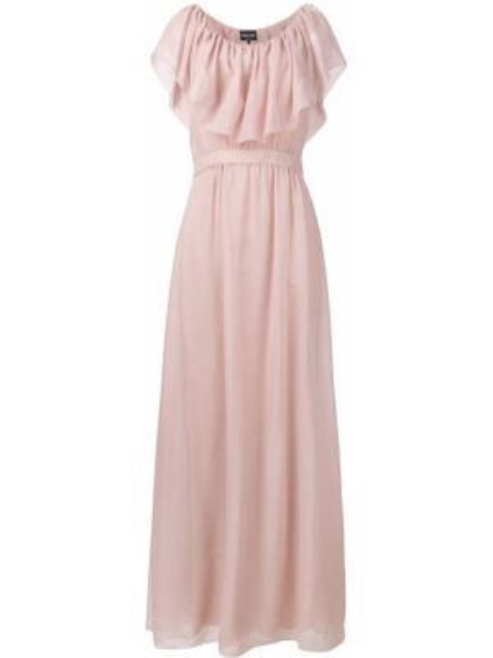 Платье макси розовое приталенное Giorgio Armani