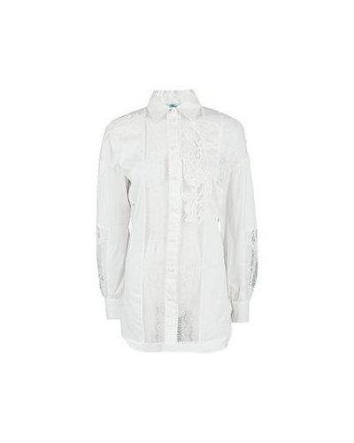 Хлопковая белая рубашка Blumarine