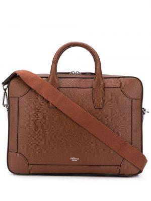 Skórzany torba z kieszeniami Mulberry