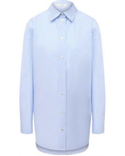 Хлопковая рубашка - синяя The Row