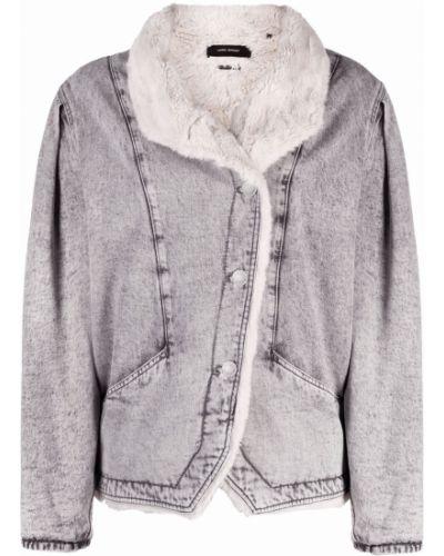 Серый пиджак на пуговицах Isabel Marant