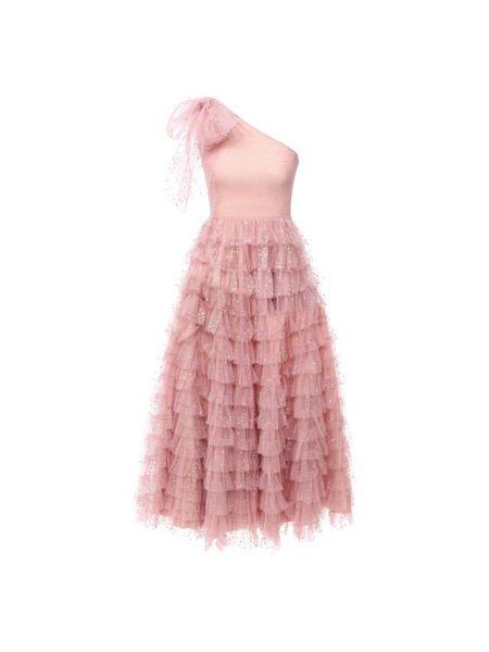 Итальянское розовое платье с подкладкой Redvalentino
