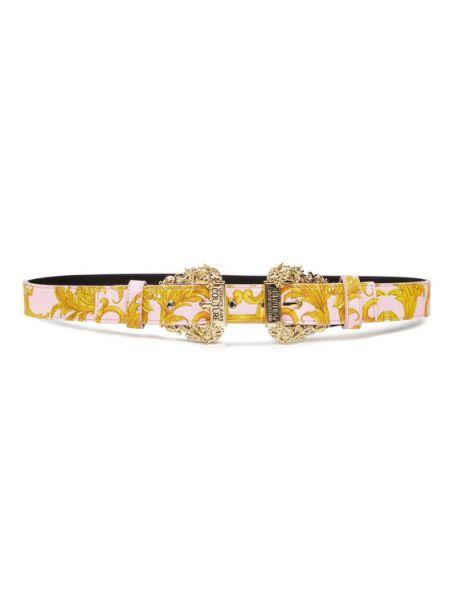 Żółty pasek Versace Jeans Couture