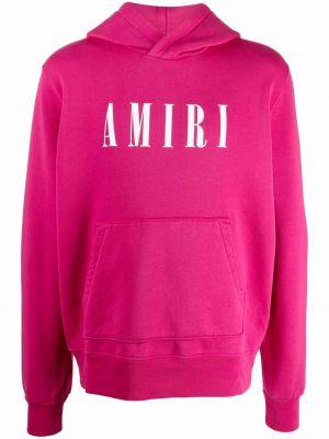 Różowa bluza z długimi rękawami Amiri