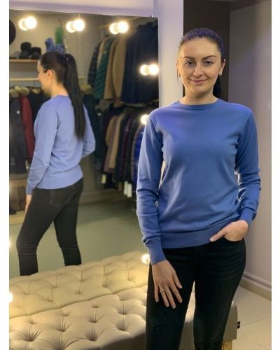 Кашемировый свитер - синий Uniqlo