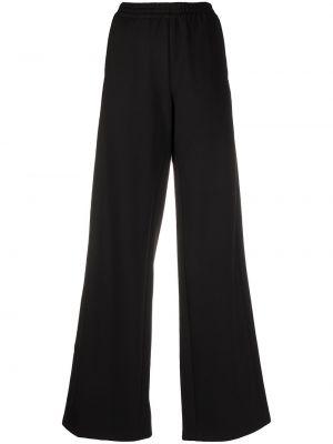 Черные спортивные брюки в полоску эластичные Unravel Project