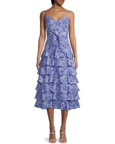 Платье с V-образным вырезом - синее Likely