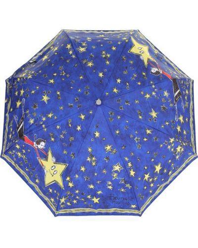 Зонт с принтом синий Moschino