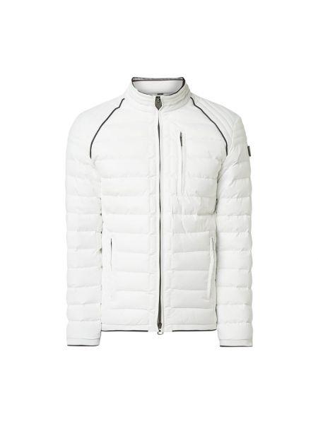 Biały kurtka z kieszeniami z zamkiem błyskawicznym ze stójką Wellensteyn