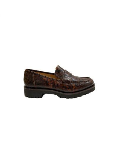 Loafers skorzane z printem Michael Kors
