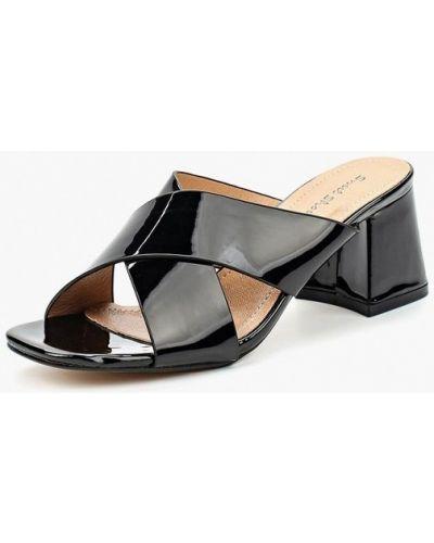 Черные кожаные сабо Sweet Shoes