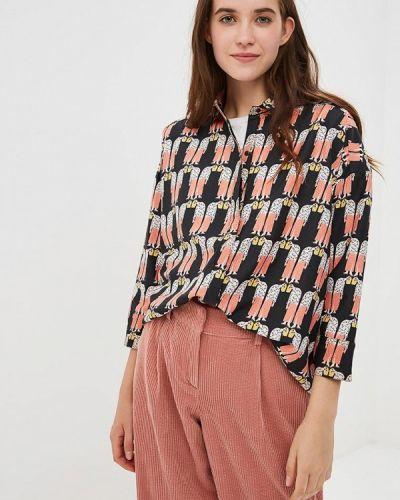 Черная блузка с длинным рукавом Compania Fantastica