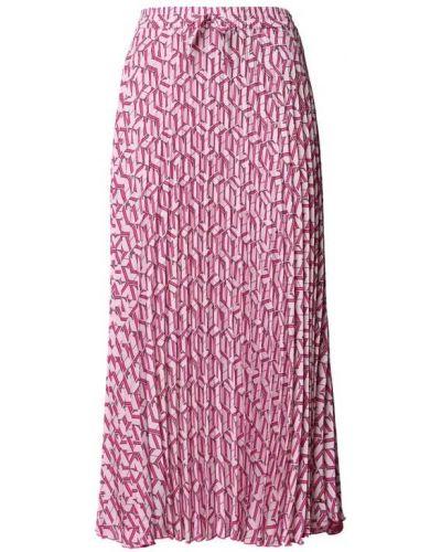 Różowa spódnica maxi z printem Tommy Hilfiger