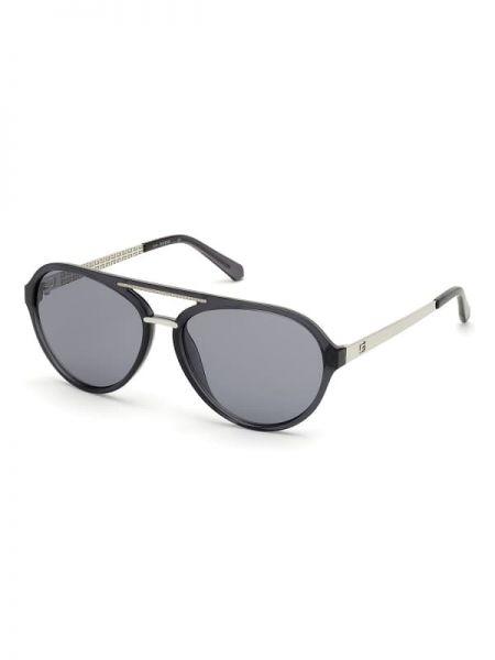Złote czarne okulary Guess
