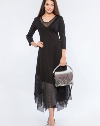 Вечернее черное вечернее платье Maxa