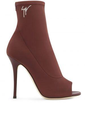 Красные носки на каблуке Giuseppe Zanotti