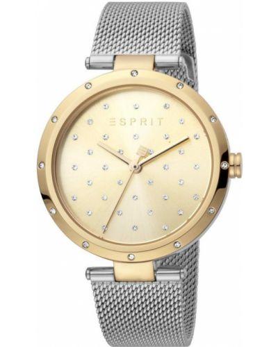Złoty zegarek mechaniczny kwarc Esprit