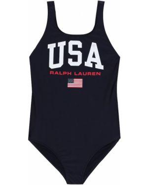 Strój kąpielowy z nadrukiem kostium Polo Ralph Lauren Kids