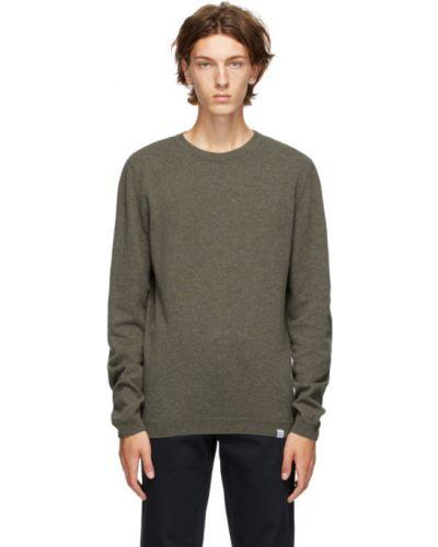 Zielony sweter wełniany z długimi rękawami Norse Projects