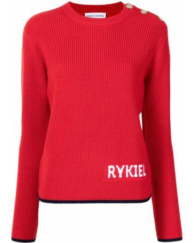 Красный шерстяной джемпер Sonia Rykiel