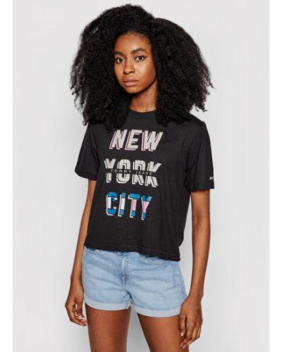 Czarny t-shirt miejski Tommy Jeans