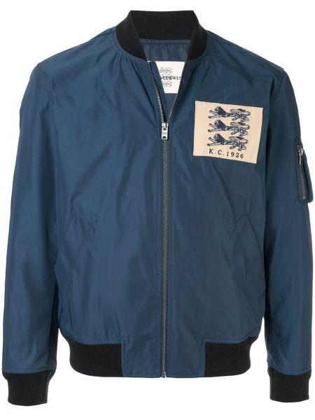 Niebieska kurtka z haftem Kent & Curwen