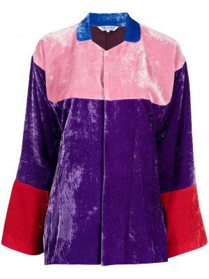 Блузка с воротником - фиолетовая Comme Des Garçons Comme Des Garçons