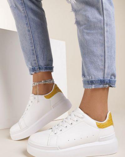 Białe sneakersy Renee