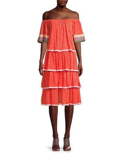 Ватное хлопковое платье с короткими рукавами Pitusa
