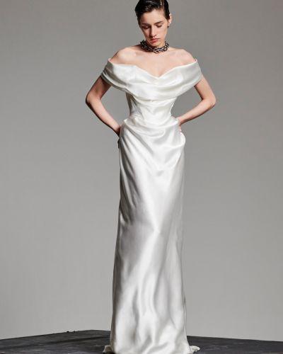 Платье через плечо шелковое Vivienne Westwood