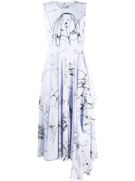 Платье миди с рукавами расклешенное Alexander Mcqueen
