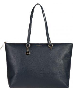 Кожаная сумка - синяя Coccinelle