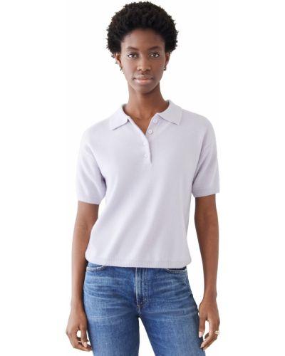 Фиолетовая рубашка с короткими рукавами с манжетами Sablyn