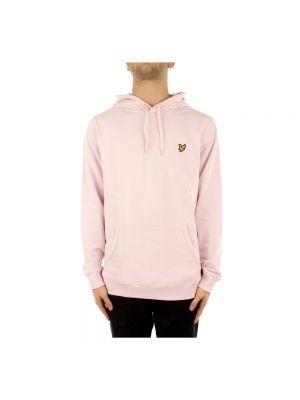 Bluza sportowa z kapturem - różowa Lyle & Scott