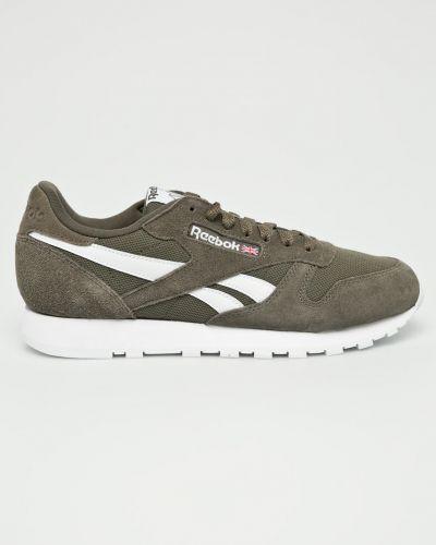 Ботинки на шнуровке кожаные резиновые Reebok Classic