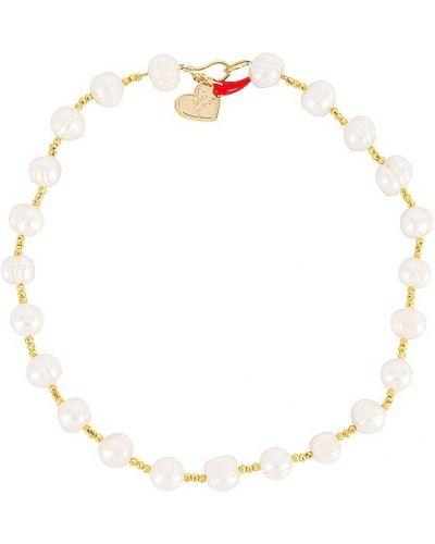 Biały złoty naszyjnik Mercedes Salazar
