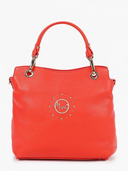 Красная кожаная сумка из натуральной кожи Marina Creazioni