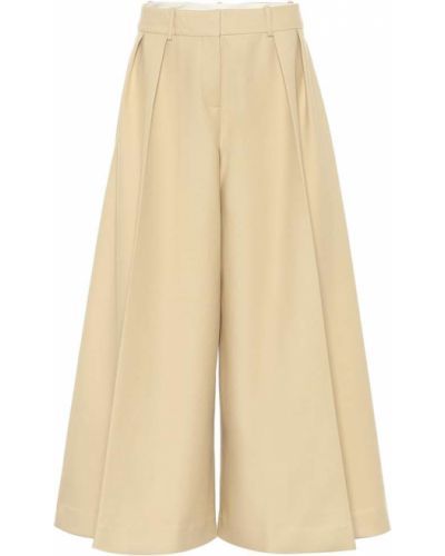 Bawełna bawełna beżowy spodnie culotte Khaite