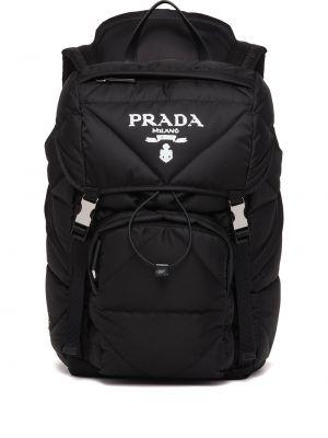 Czarny plecak materiałowy Prada