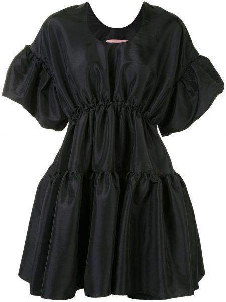 С рукавами черное платье мини с поясом Romance Was Born