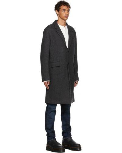 Długi płaszcz wełniany - czarny Rag & Bone