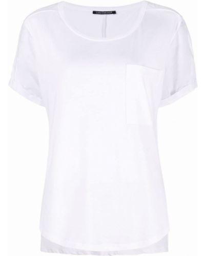 Хлопковая белая футболка с короткими рукавами Luisa Cerano