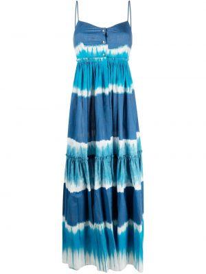 Хлопковое платье - синее Alberta Ferretti