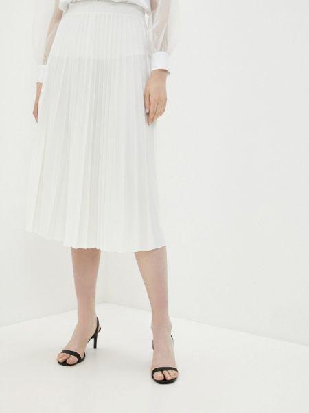 Плиссированная юбка белая весенняя Imperial