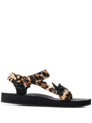 Czarne sandały płaska podeszwa bawełniane Arizona Love
