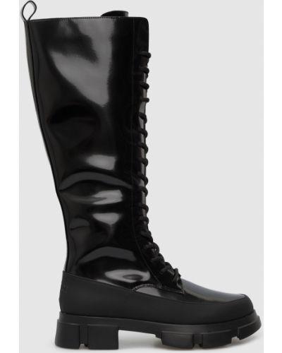 Сапоги на шнуровке - черные Twin-set