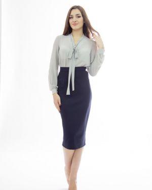 Блузка с длинным рукавом с бантом с V-образным вырезом Lautus