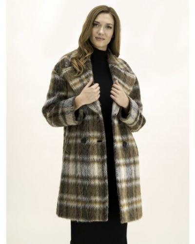 Brązowy płaszcz wełniany Pennyblack