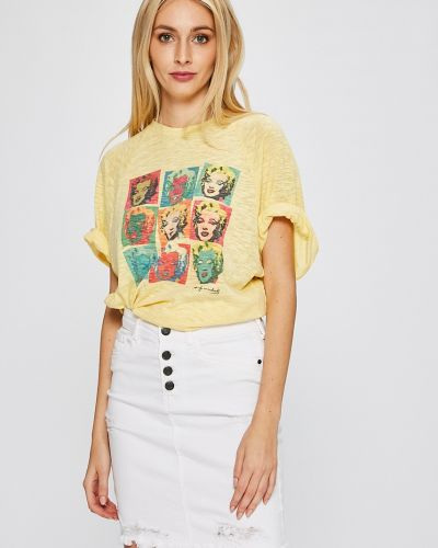 Футболка свободная желтый Andy Warhol By Pepe Jeans